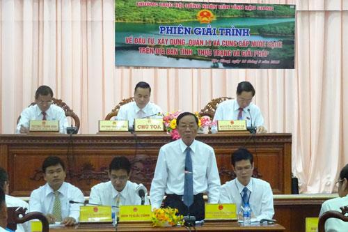 Phiên giải trình của HĐND tỉnh nóng với vấn đề nước sạch nông thôn